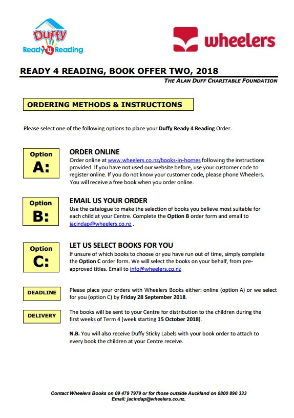 Book Offer 2 2018 Instructions